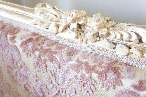 cut velvet pink damask fabric
