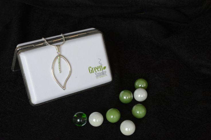 green smoke silver pendant