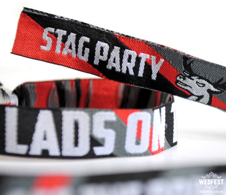 Stag Party Ideas - Stag Do Wristbands http://www.wedfest.co/stag-party-wristbands/