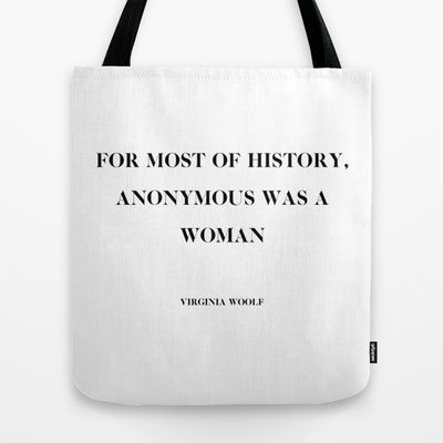 Virginia Woolf quote Tote Bag by OurbrokenHouse - $22.00
