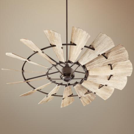 """72"""" Quorum Windmill Oiled Bronze Ceiling Fan - #9F876   www.lampsplus.com"""