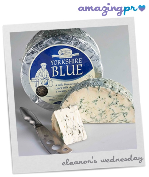 """""""Shepherds Purse pride themselves on the fact that all their cheeses are hand made, with no mechanical stirrers or cutters and using locally sourced cow's, ewe's or water buffalo milk. Yorkshire Blue was the first blue cheese and first cow's milk cheese Shepherds Purse produced and is now their best-seller.""""  Come to our blog and read the full post!  http://amazingpr.co.uk/blog/?p=1723#"""