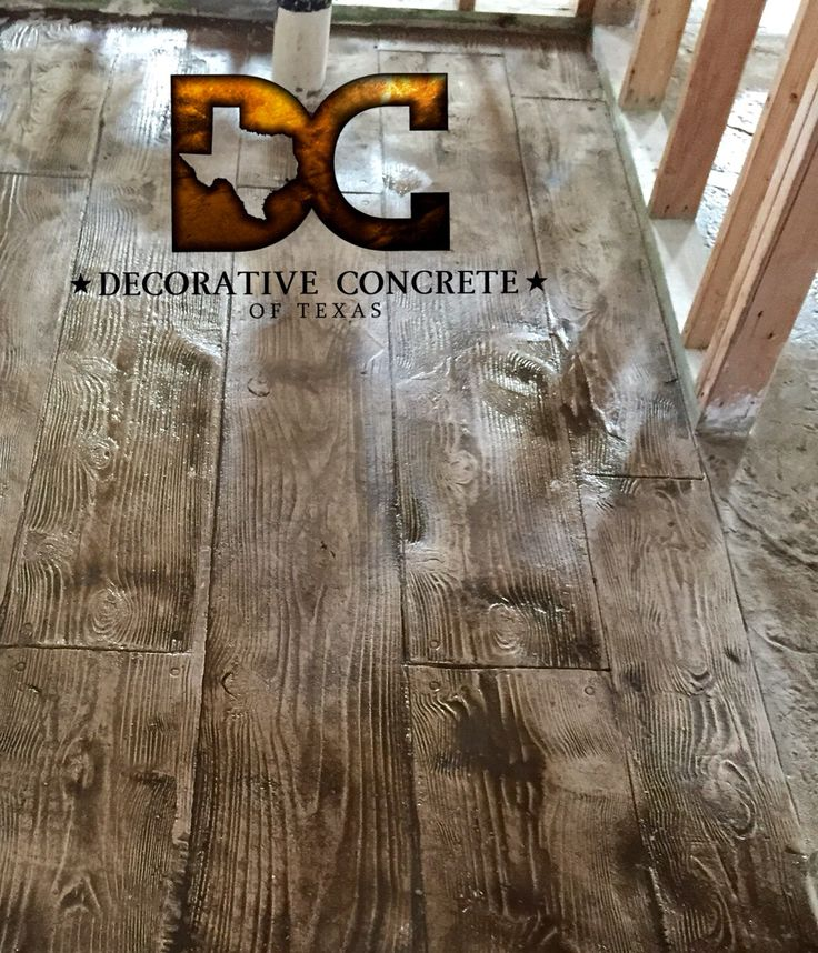 Stamped Concrete by Decorative Concrete Of Texas. That's concrete not wood!!