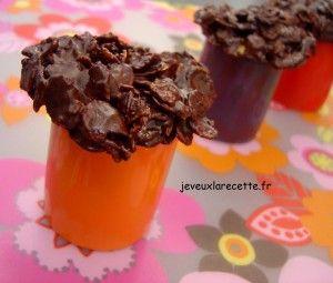 Roses des sables ou Crispies au chocolat noir
