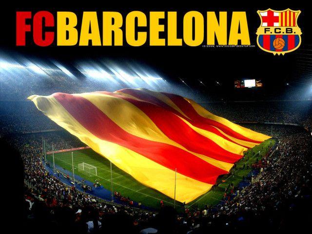 Barcelona Spain Flag Wallpaper