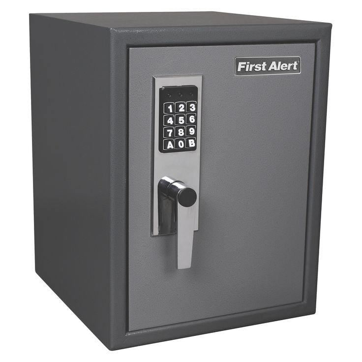 First Alert Anti-Theft Safe with Digital Lock, 1.21 Cu. Ft., Gray