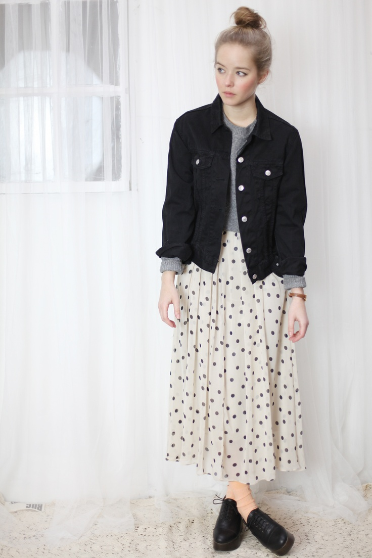 Polka Dot Long Dress for Casual Look  Styling & Photography by THE WHITEPEPPER