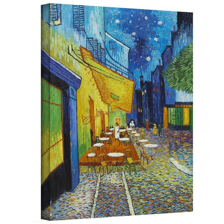Artist: Vincent van GoghTitle: Cafe TerraceProduct type: Gallery-wrapped canvas