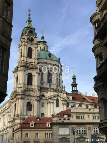 "Download the royalty-free photo ""Saint Nicholas Church view, Mala Strana, Prague, Czech Republic"" created by yournameonstones at the lowest price on Fotolia.com. Browse our cheap image bank online to find the perfect stock photo for your marketing projects!"