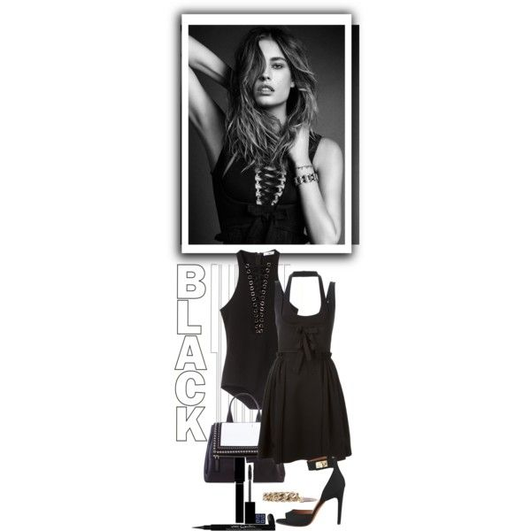 Black Givenchy Set with Nadja Bender by violavintage on Polyvore featuring polyvore fashion style Givenchy KAROLINA