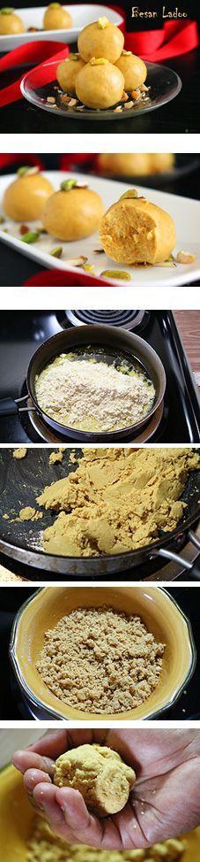 Great Besan Ladoo | Easy Indian Sweet Recipe, ,