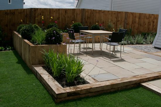 use of sleepers for raised beds