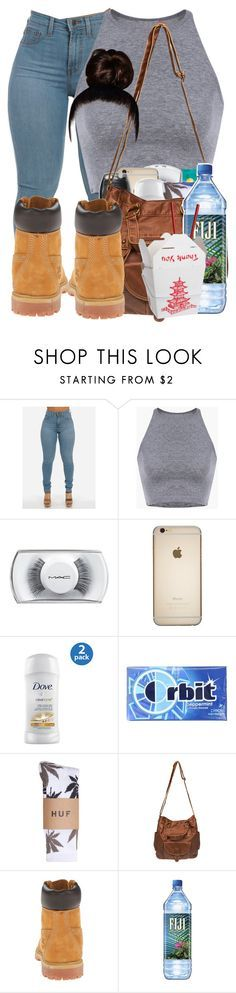 """""""good vibes"""" by nenethenerd ❤ liked on Polyvore featuring MAC Cosmetics, HUF, Wet Seal and Timberland"""