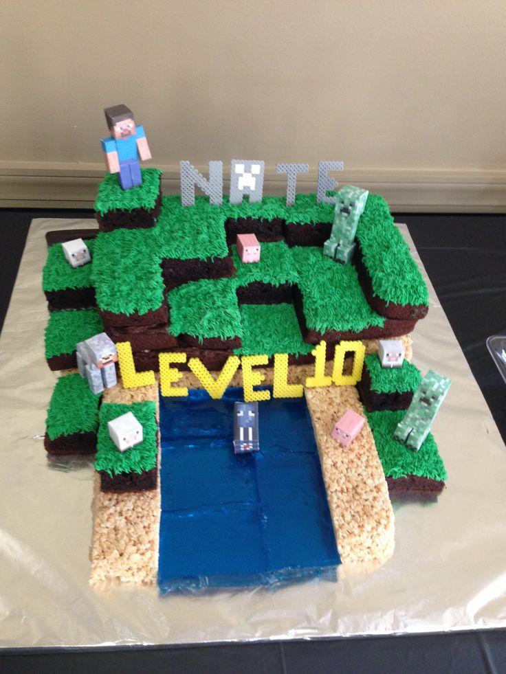 Minecraft Images For Cake : Minecraft cake Minecraft birthday party Pinterest ...