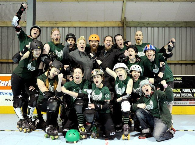 MRD's co-ed team after winning the first UK co-ed tournament, January 2013. Photo by Shirlaine Forrest.