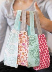 Ruffle tote bag and fabric headbands