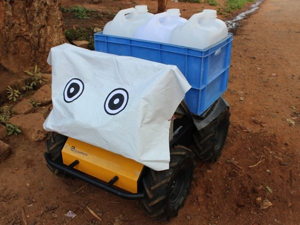 Robot Research in the Wild: Water Transport in Rural India