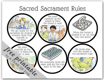 "FHE Lesson - The Sacrament (From a blog called ""A Year of Family Home Evenings!"" Great find!)"