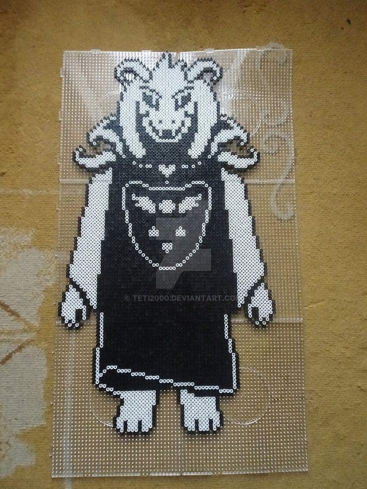 Asriel Dreemurr [Undertale Perler Beads] by Teti2000