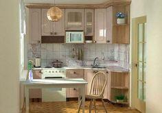Способы обустройства маленькой кухни
