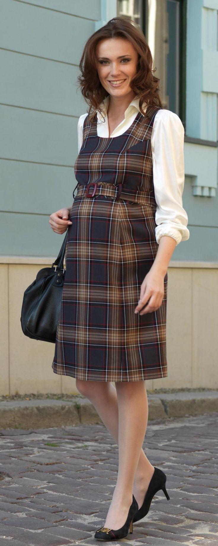Těhotenské šaty Trendi hnědá :: Těhotenské šaty - Těhotenská móda