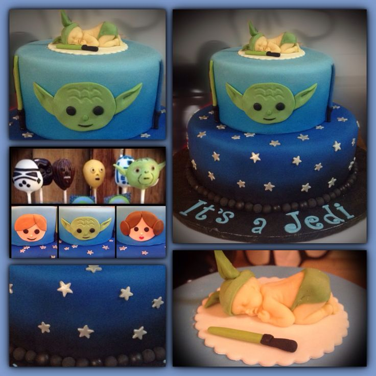 "Star Wars Baby Shower Cake ""It's a Jedi"""