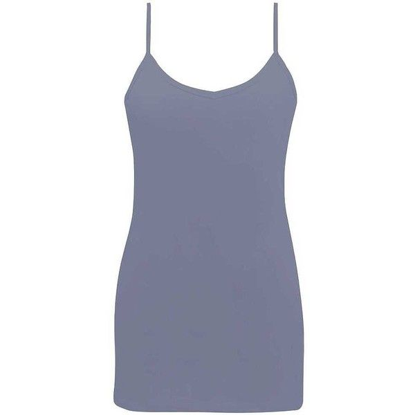 BKE Two-Way Basic Tank Top - Blue Large ($16) ❤ liked on Polyvore featuring tops, blue, strappy top, basic tank tops, scoopneck tank, v neck tank and strap tank