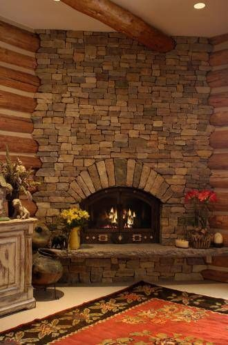 Tennessee Fieldstone Fireplace : Willow creek building stone fireplace and tennessee