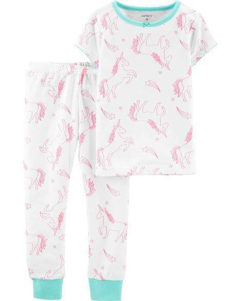 efa70125016b 2-Piece Unicorn Snug Fit Cotton PJs in 2019