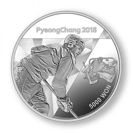 Νέες Εκδόσεις 5000 γον, Πιόνγκτσανγκ, Χειμερινοί Ολυμπιακοί Αγώνες,Ασήμι,999, 2018 Coins Club Greece