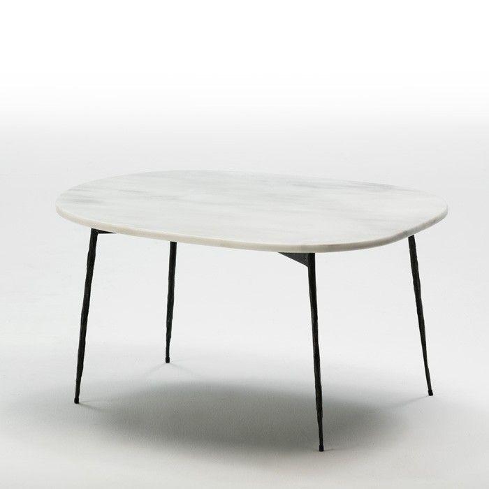 Thai Mobilier Table Basse Rectangulaire Marbre Blanc Et Metal Noir Guaie H 40 Cm Lestendances Fr En 2020 Table Basse Table Basse Rectangulaire Marbre Blanc
