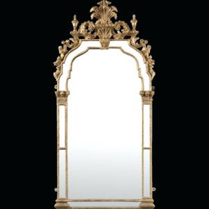 Baroque Wall Mirror With Shelf And Candle Holders