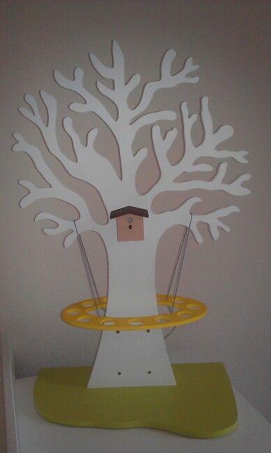 Doopsuiker boom gemaakt uit hout