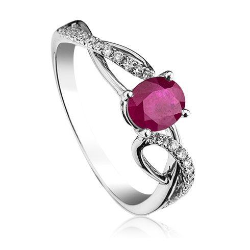 Inel cu rubin si diamante C396 C191 #bijuterii #coriolan #inel #diamond #engagementring