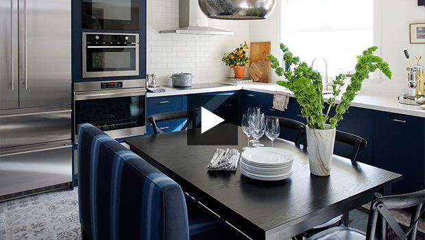 This AyA Kitchen is durable and dreamy! Watch the House and Home before & after!  http://www.ayakitchens.com