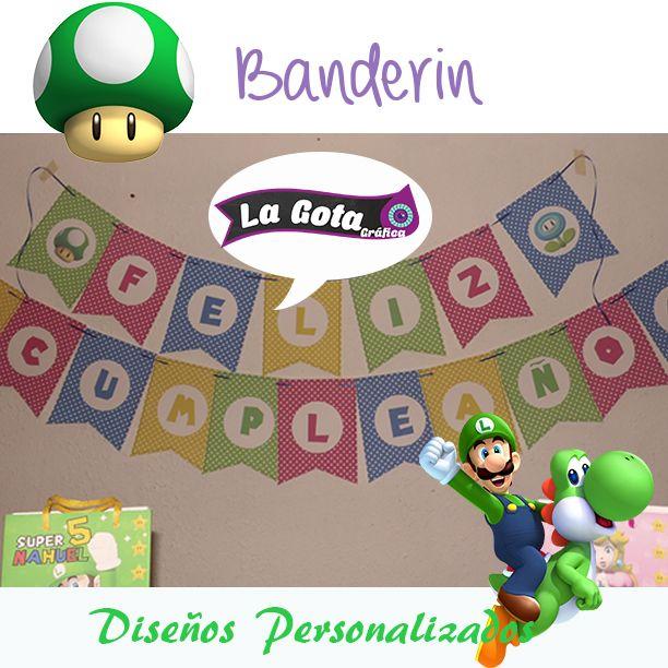 Banderín Mario Bros