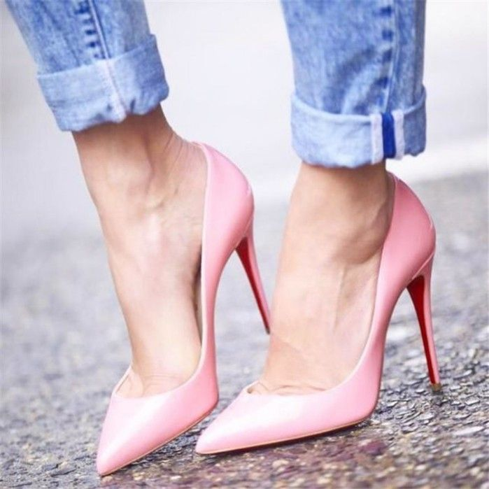 Christian Louboutin Pigalle Follies, Light Pink | Buy ➜ shoespost.com/...
