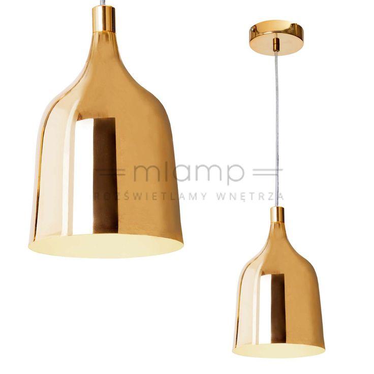 LAMPA wisząca LAZARRO LP-1120/1P GOLD Light Prestige metalowa OPRAWA zwis IP20 dzwon bell złoty