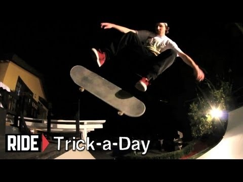 Learn a new trick each and every day from top pros. You'll get step-by-step instructions on how to master every trick in skateboarding! Tune in seven days a week to learn something new.      Today Greg Lutzka shows you how to Kickflip Fakie