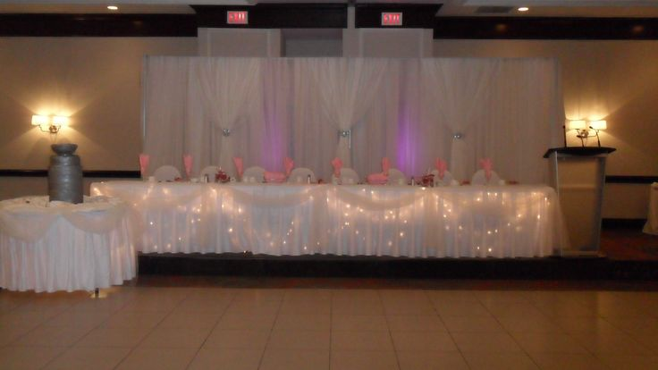 Pink Uplighting, Head Table - Holiday Inn Burlington Hotel & Conference Centre