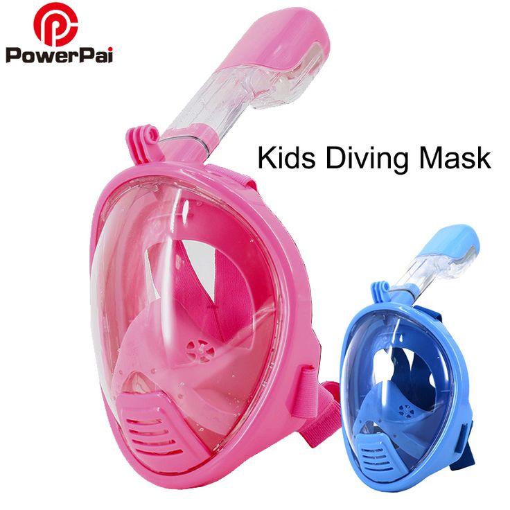 Professional kids Snorkel Diving Mask Set Children Size Swimming Training Full Face Mask Scuba Equipment mergulho For Gopro //Price: $44.08 & FREE Shipping //     #hashtag4