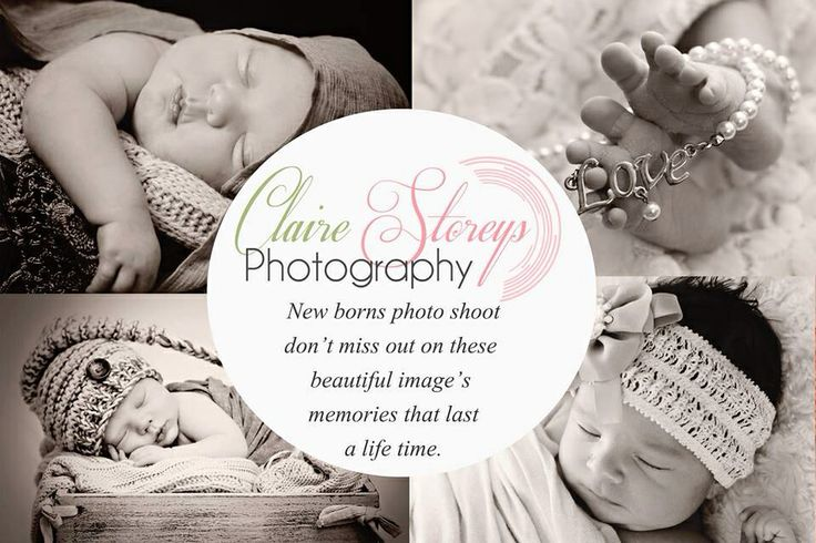 Newborns photography flyer