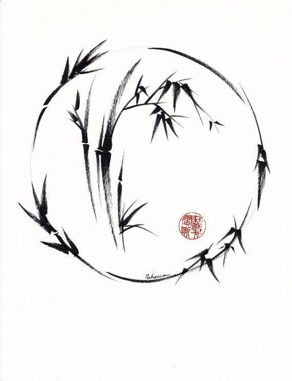 Aureole: Radiant Circle - Original Enso Sumie Ink Brush Painting by Rebecca Rees