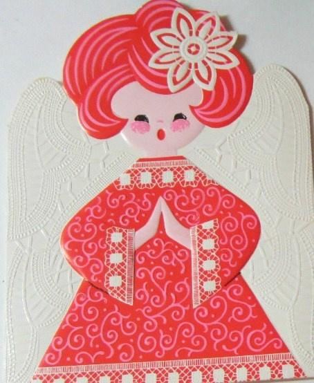 Vintage Mod Angel Card  I LOVE her!!!  :)