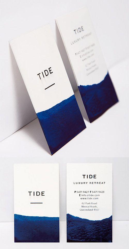 Elegant DIY Watercolour Dipped Business Card Design