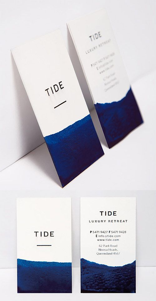 Elegant DIY Watercolour Dipped Business Card Design
