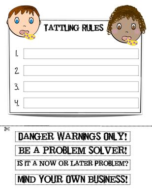 Tattle Rules from The Teachers Chatterbox on TeachersNotebook.com -  (3 pages)  - This FREEBIE activity was created to go with the awesome book, Bad Case of Tattle Tongue, by Julia Cook.