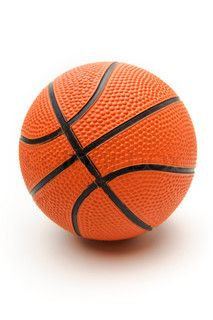 Bild des leuchtend orangefarbenen Basketballballs auf einem weißen Hintergrund & # 39;  – Personal Interests