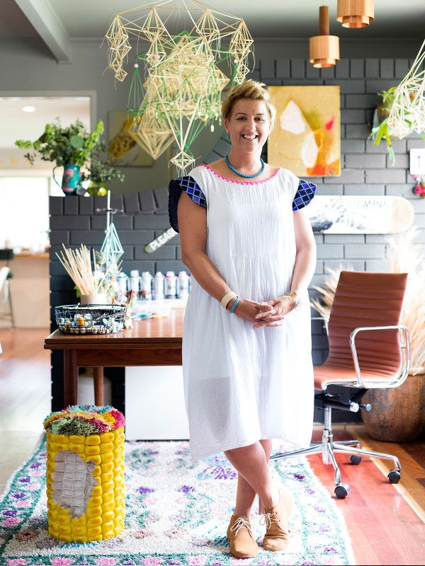 Katrina Johnson of Floral and Hardie in her Brisbane studio. Photo – Mindi Cooke for The Design Files.