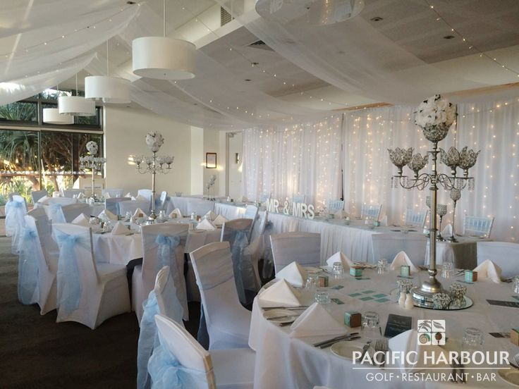 The setting for Karalee and Paul's wedding at Pacific Harbour Golf & Country Club